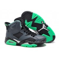 New Air Jordan 6 GS Black/Jade Green Authentic