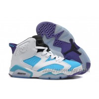 New Air Jordan 6 GS White Blue Purple Super Deals