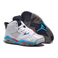 New Air Jordan 6 GS White Blue Red Discount