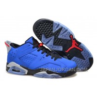 "Air Jordan 6 Low GS ""Eminem"" Blue Black/Grey New Release"