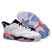 "New Air Jordan 6 Low GS ""White Infrared"" Free Shipping"