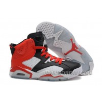 New Air Jordan 6 Retro Black White Red For Sale