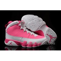 New Air Jordan 9 GS Pink White Shoes Top Deals