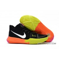 Girls Nike Kyrie 3 Black Colorful Volt Orange Pink Super Deals