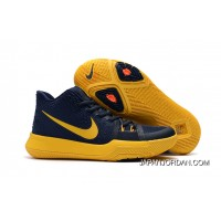 "Girls Nike Kyrie 3 ""Cavs"" Deep Blue Yellow Authentic"