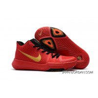Girls Nike Kyrie 3 Red Black Gold Copuon Code
