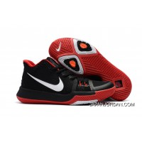 Girls Nike Kyrie 3 Black Red White Authentic