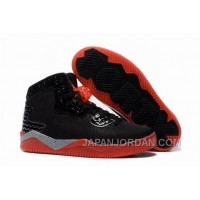 "Jordan Air Spike 40 Forty PE ""Bred"" Black/Fire Red/Cement Grey New Release"