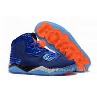 "New Jordan Air Spike 40 Forty PE ""Game Royal"" Game Royal/Total Orange-White-Black Top Deals"