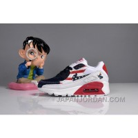 073 MAX 90 Nike Kids Air Max 90 American Flag White Blue Red Discount
