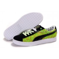 Mens Puma Basket Brights YoYo Black Yellow Green 送料無料