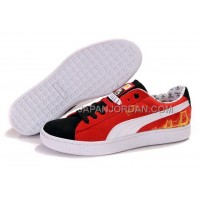 Mens Puma Basket Brights YoYo Red Black White 送料無料