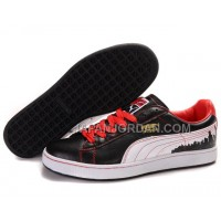 Mens Puma City Series Black White Red 送料無料