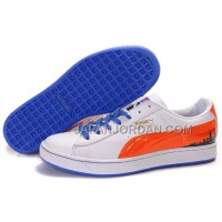 Mens Puma City Series White Orange Blue 送料無料