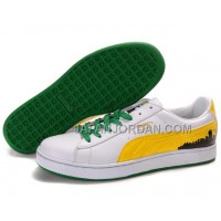Mens Puma City Series White Yellow Green 送料無料