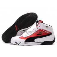Mens Puma Drift Cat 098 White Red Black 本物の