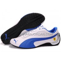 Mens Puma Drift Cat II Ferrari White Blue Black 本物の