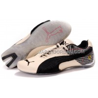 Mens Puma Ferrari 102 Beige Black Grey 本物の