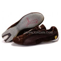 Mens Puma Ferrari 102 Brown Grey 本物の