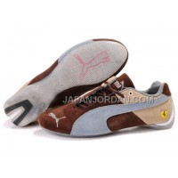 オンライン Mens Puma Ferrari 102 Grey Brown Beige