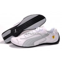 Mens Puma Ferrari 694 White Grey Black 本物の