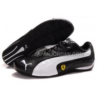 Mens Puma Ferrari 910 Black White 本物の
