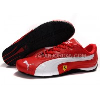 Mens Puma Ferrari 910 Red White 本物の