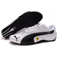 Mens Puma Ferrari 910 White Black 本物の