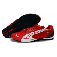 Mens Puma Ferrari 916 Red White 本物の