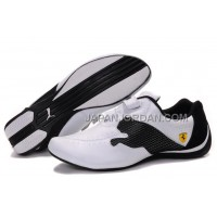 オンライン Mens Puma Ferrari Cat Big White Black