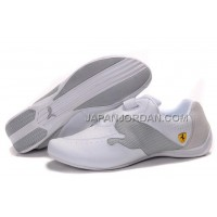 オンライン Mens Puma Ferrari Cat Big White Grey