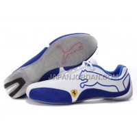 Mens Puma Future Cat 103 White Blue Grey 格安特別