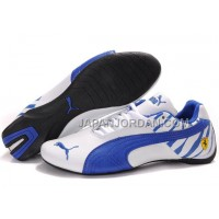 Mens Puma Future Cat 602 White Blue 格安特別
