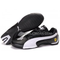 Mens Puma Future Cat Big Ferrari Black White 格安特別