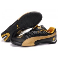 Mens Puma Future Cat Big Ferrari Golden Black 格安特別