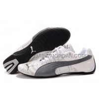 Mens Puma Future Cat Carve White Grey 格安特別