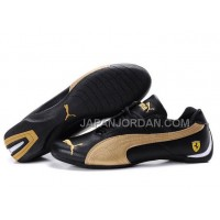 Mens Puma Future Cat GT Ferrari Black Golden Yellow 格安特別