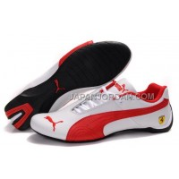 Mens Puma Future Cat GT Ferrari White Red 格安特別