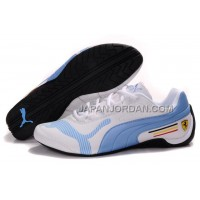 Mens Puma Future Cat Low 829 White Blue Black 格安特別