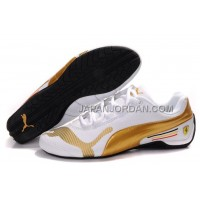 Mens Puma Future Cat Low 829 White Golden 格安特別