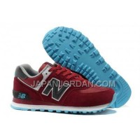 送料無料 New Balance 574 2013 Womens Wine Red Blue