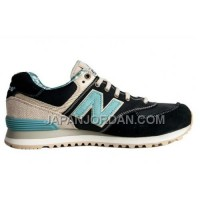 New Balance 574 Mens Cyan Khaki Black Shoes 割引販売