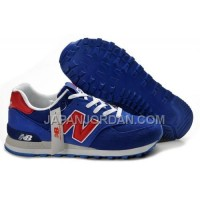 New Balance 574 Mens Navy Blue Red White Shoes 割引販売