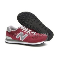 New Balance 574 Mens Red Silver Shoes 割引販売