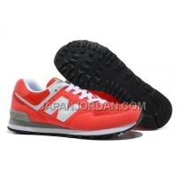 New Balance 574 Mens White Red Shoes 割引販売