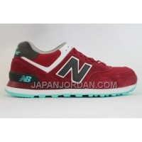 New Balance 574 Mens Wine Red Grey Shoes 割引販売