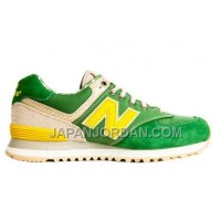 New Balance 574 Mens Yellow Khaki Green Shoes 割引販売