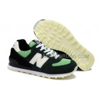 New Balance 574 Suede Classics Mens Black Green 割引販売
