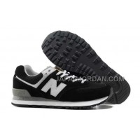 New Balance 574 Suede Classics Mens Black White 割引販売