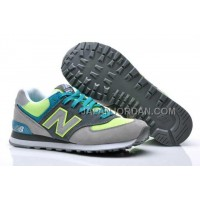 New Balance 574 Suede Classics Mens Grey Volt Turquoise 割引販売